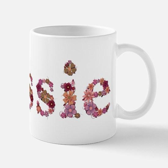 Cassie Pink Flowers Mugs