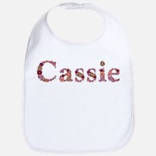 Cassie Pink Flowers Bib
