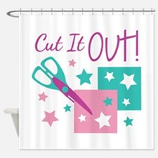 Cut It Out! Shower Curtain