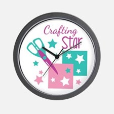 Crafting Star Wall Clock