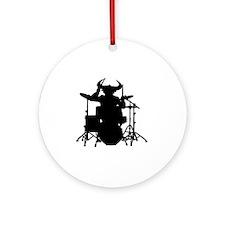 bull drum Round Ornament