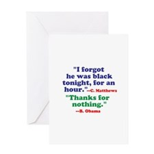 He Forgot He Was Black Greeting Cards