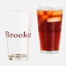 Brooke Pink Flowers Drinking Glass