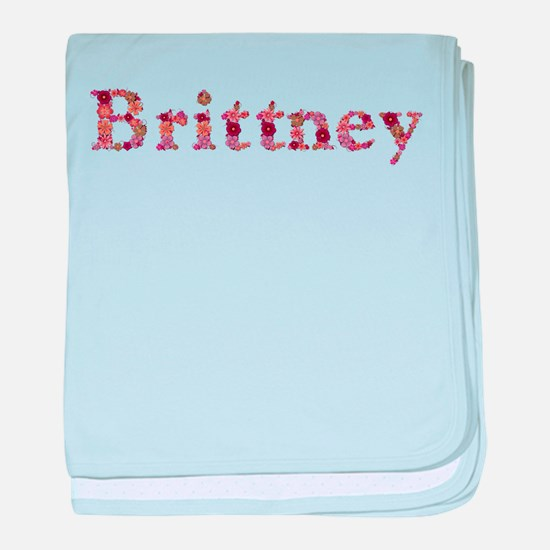 Brittney Pink Flowers baby blanket