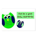 Owl be a good dad...dad-to-be Postcards (Package o