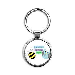 Owl always bee-lieve in you Keychains