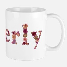 Beverly Pink Flowers Mugs