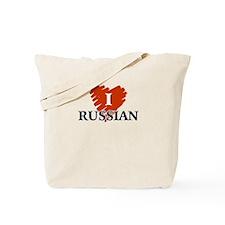 I Love Russian Tote Bag