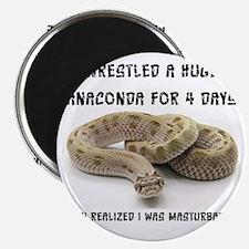 Wrestled A Huge Anaconda Magnet