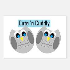 Cute n Cuddly Postcards (Package of 8)