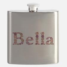 Bella Pink Flowers Flask