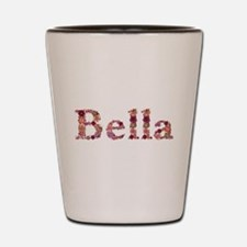 Bella Pink Flowers Shot Glass