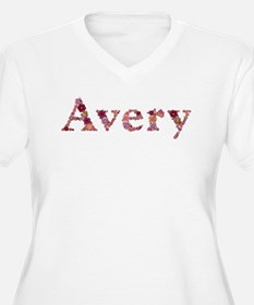 Avery Pink Flowers Plus Size T-Shirt