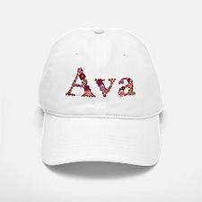 Ava Pink Flowers Baseball Baseball Baseball Cap
