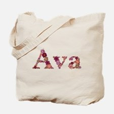Ava Pink Flowers Tote Bag