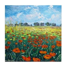 Poppy Field Tile Coaster