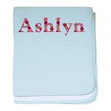Ashlyn Pink Flowers baby blanket