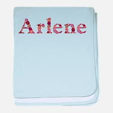 Arlene Pink Flowers baby blanket