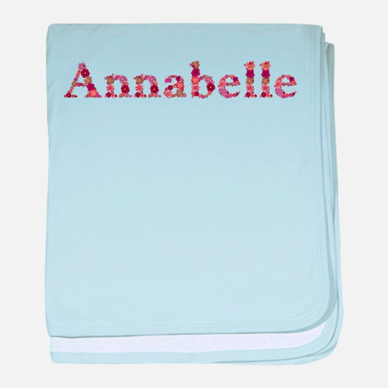 Annabelle Pink Flowers baby blanket