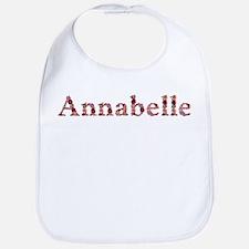Annabelle Pink Flowers Bib