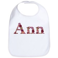 Ann Pink Flowers Bib