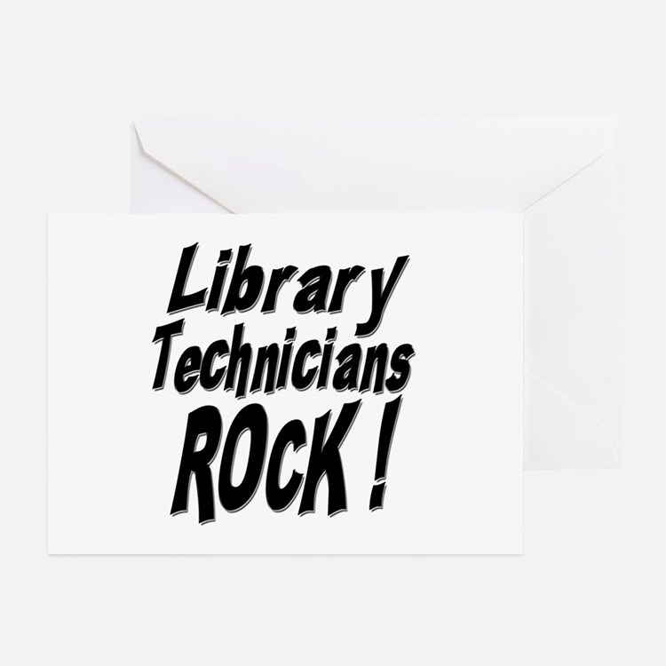 Library Techs Rock ! Greeting Cards (Pk of 10)