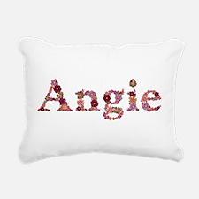 Angie Pink Flowers Rectangular Canvas Pillow