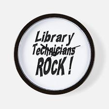 Library Techs Rock ! Wall Clock