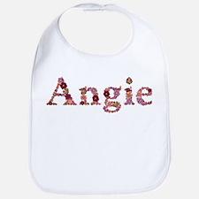 Angie Pink Flowers Bib