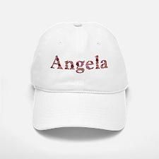 Angela Pink Flowers Baseball Baseball Baseball Cap