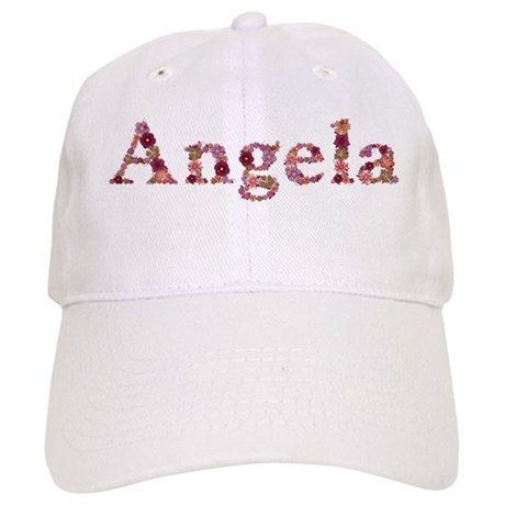 Angela Pink Flowers Baseball Cap