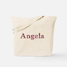 Angela Pink Flowers Tote Bag