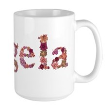 Angela Pink Flowers Mugs
