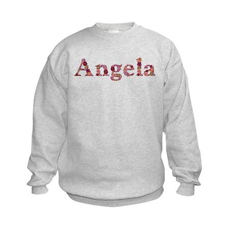 Angela Pink Flowers Sweatshirt