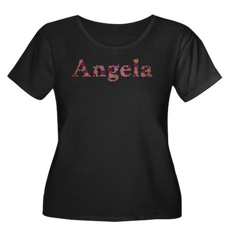 Angela Pink Flowers Plus Size T-Shirt
