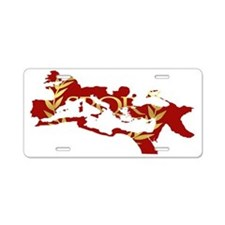 Roman Empire Map SPQR Aluminum License Plate