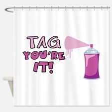 Tag Youre It! Shower Curtain