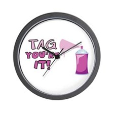 Tag Youre It! Wall Clock