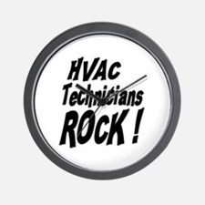HVAC Techs Rock ! Wall Clock