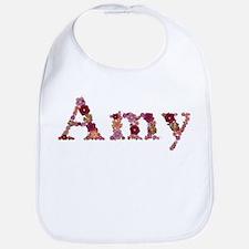 Amy Pink Flowers Bib