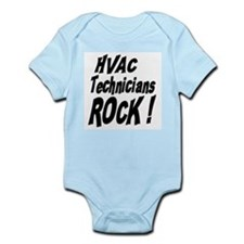 HVAC Techs Rock ! Infant Bodysuit