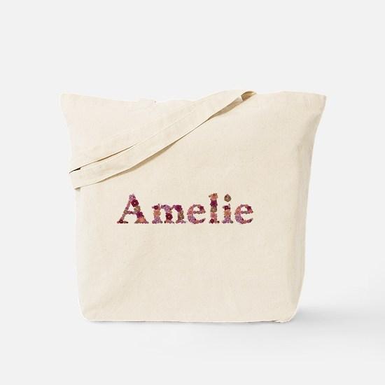 Amelie Pink Flowers Tote Bag