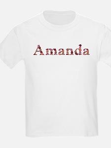 Amanda Pink Flowers T-Shirt