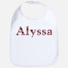 Alyssa Pink Flowers Bib