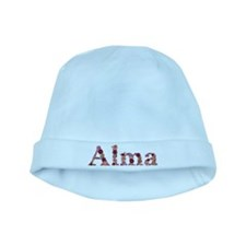 Alma Pink Flowers baby hat