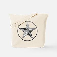 Silver Lone Star Tote Bag