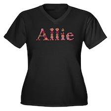 Allie Pink Flowers Plus Size T-Shirt