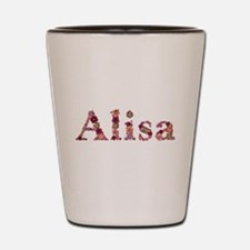 Alisa Pink Flowers Shot Glass