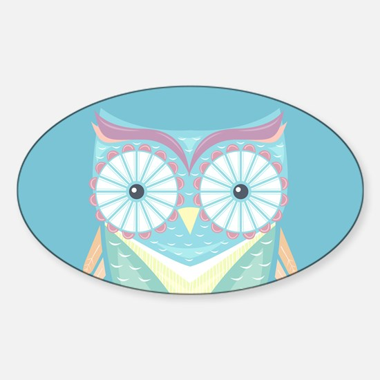 Colorful Owl Decal