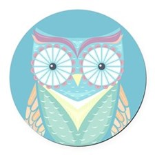 Colorful Owl Round Car Magnet